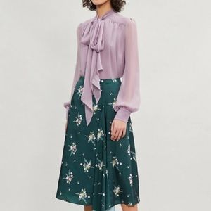 🆕 Ted Baker ANABELL Flourish Asymmetric Skirt